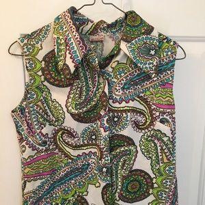 Tops - Vintage paisley sleeveless top